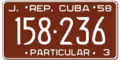 Cuba license plate 1958J graphic.png