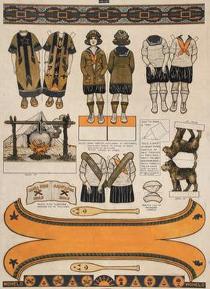 Mel Cummin - Mel Cummin's paper doll pages for McCall's in 1922.
