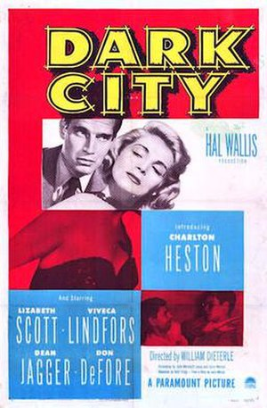 Dark City (1950 film) - Theatrical release poster