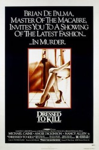 Dressed to Kill (1980 film) - Theatrical release poster