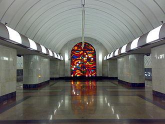 Dubrovka (Lyublinsko–Dmitrovskaya line) - Image: Dubrovka metro station