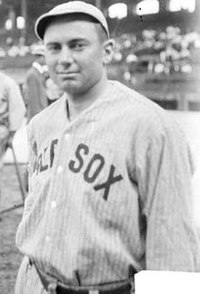 Duffy Lewis of the Boston Red Sox at Comiskey Park in 1912.