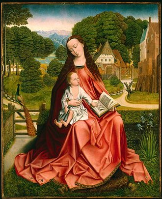 Notname - Virgin and Child in a Landscape, the Master of the Embroidered Foliage 1492-1498. Minneapolis Institute of Arts, Minneapolis