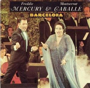Barcelona (Freddie Mercury and Montserrat Caballé song) - Image: Freddie Mecury and Montserrat Caballé Barcelona