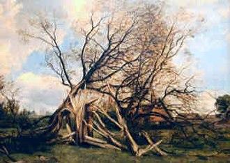 Frederick Richard Lee - Shattered Oak in Bedfordshire By F.R.Lee (1851)