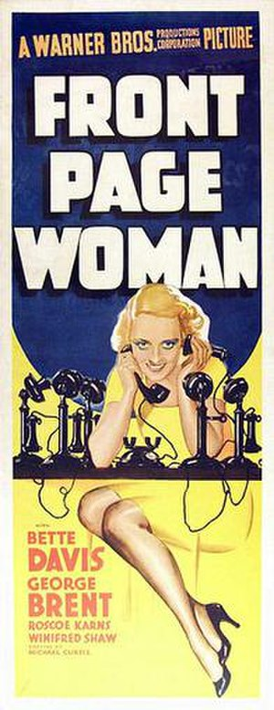 Front Page Woman - Theatrical release poster