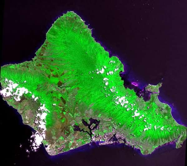 Island of Oahu - Landsat mosaic