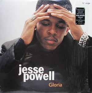 Gloria (Enchantment song) - Image: Jesse Powell Gloria single cover