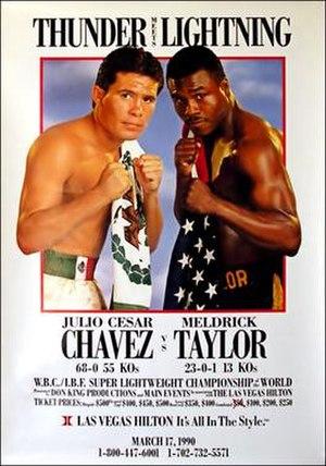 Julio César Chávez - Chávez vs. Taylor promotional poster.
