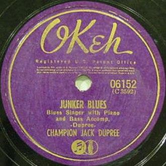 Junker Blues - Image: Junker Blues Dupree