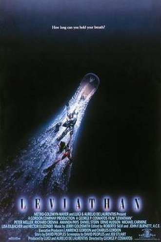 Leviathan (1989 film) - Theatrical release poster by John Alvin