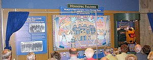 Winnipeg Falcons - Unveiling of prominent display at MTS Centre, Winnipeg.)
