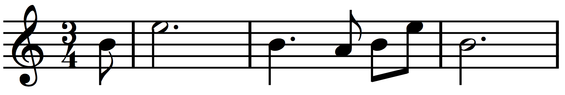 The ape call from the first movement of Das Lied von der Erde