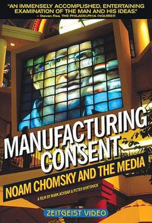 Manufacturing Consent: Noam Chomsky and the Media - Image: Manufacturing Consent movie poster