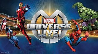 Marvel Universe Live! - Poster for the 2014 UK tour.