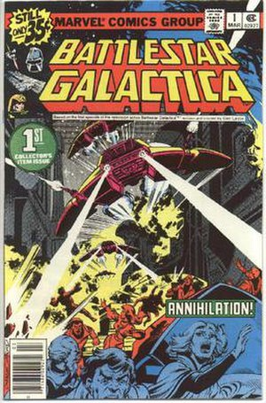 Battlestar Galactica (comics) - Cover of the first issue of Marvel's monthly Battlestar Galactica comic book