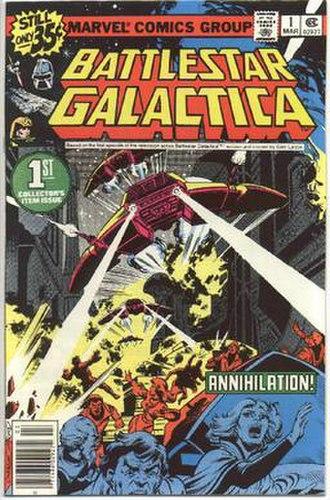 Battlestar Galactica (comics) - Cover of the first issue of Marvel's monthly Battlestar Galactica comic book