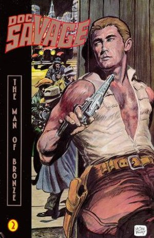Doc Savage - Doug Wildey's cover for Millennium's Doc Savage: The Man of Bronze.