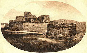 Monte Sant'Angelo castle - The Castle of Monte Sant'Angelo in an early 20th-century photograph
