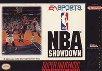 NBA Showdown (video game) - Cover art (Super Nintendo Entertaiment System)