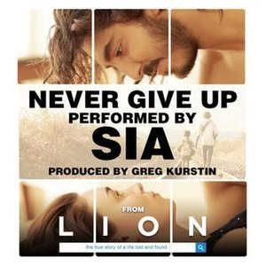 Never Give Up (Sia song) - Image: Never Give Up by Sia