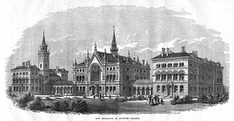 Dulwich College - Dulwich College's new buildings in 1869.