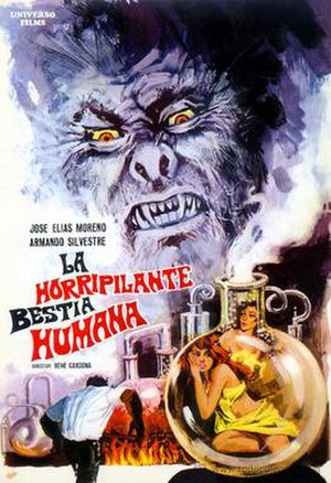 Night of the Bloody Apes (film) - Mexican release poster
