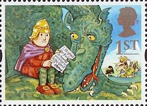 Noggin the Nog - 1994 stamp: Noggin and Ice Dragon (SG1804)