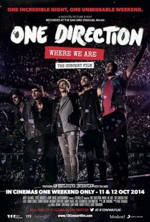 One Direction: Where We Are – The Concert Film - Theatrical release poster