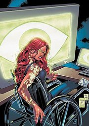 Oracle as she appears infected with the Brainiac virus. Art by Adriana Melo.
