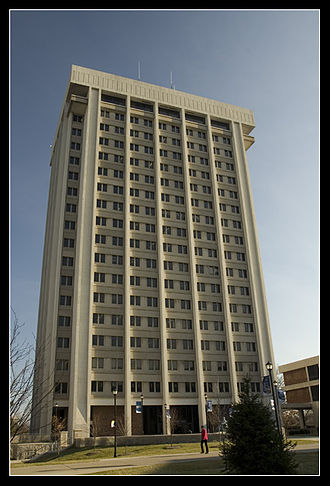 Patterson School of Diplomacy and International Commerce - Patterson Office Tower, home of the school of diplomacy.