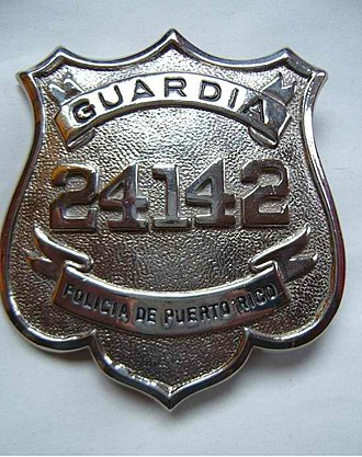 Puerto Rico Police - Image: PRPD police officer badge