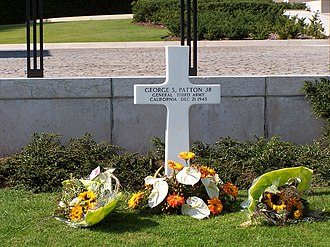 Luxembourg American Cemetery and Memorial - Image: Patton grave