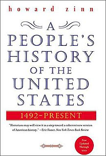 <i>A Peoples History of the United States</i> book