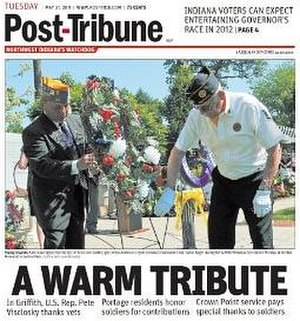 Post-Tribune - Image: Post Tribune Front Page