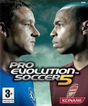 Pro Evolution Soccer 5 - European cover art featuring John Terry and Thierry Henry