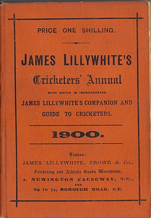 James Lillywhite's Cricketers' Annual - Red Lillywhite