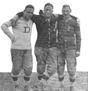 J. Burton Rix - Rix (left) with assistant coach Lt. Joseph Wier and head coach Dave Allerdice at Texas circa 1913