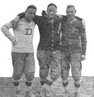 J. Burton Rix - Rix (left) with assistant coach Lt. Joseph Wier and head coach Dave Allerdice at Texas circa 1913