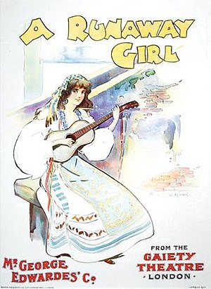 A Runaway Girl - Theatre poster