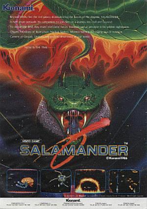 Salamander (video game) - Image: Salamander flyer