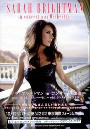 Sarah Brightman in Concert with Orchestra - Image: Sarah Brightman in Concert with Orchestra