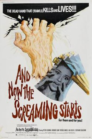 And Now the Screaming Starts! - United States cinematic release poster