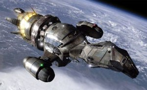 Firefly (TV series) - The spacecraft Serenity was digitally rendered by special effects house Zoic Studios.  The shape was inspired by the shape of the firefly insect, and its tail section lights up in imitation of it.