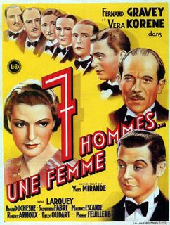 <i>Seven Men, One Woman</i> 1936 film by Yves Mirande