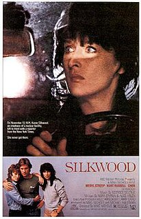 <i>Silkwood</i> 1983 biographic drama on Karen Silkwood and the nuclear industry directed by Mike Nichols