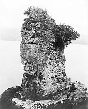 Siwash Rock - Siwash rock in the 1890s