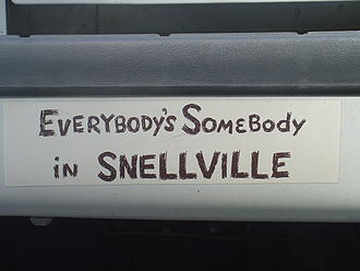 Snellville, Georgia - The city used to sell bumper stickers at City Hall for $1.