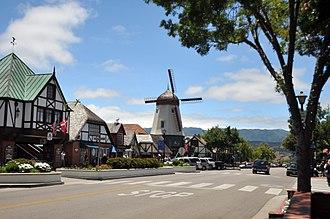 Solvang, California - Main Street, Solvang.  Alisal Road