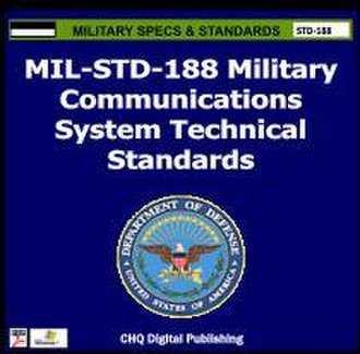MIL-STD-188 - Cover of CHQ's commercial reprint of the MIL-STD-188 Military Standards series